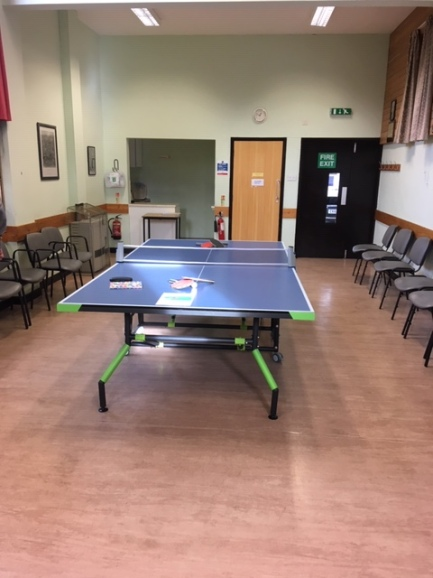 Comeytrowe Table Tennis Club in the Walker Room