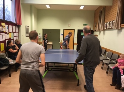 Comeytrowe Table Tennis Club (warming up for a game!)